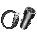 Baseus TZXLD-B01 Small Screw Car Charger & 1m USB-C Cable
