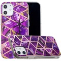 Coque TPU Marble Pattern Galvanisé IMD pour iPhone 12 mini