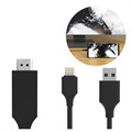 SiGN HDMI / Lightning Cable pour iPhone/iPad - 2m - Noir