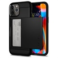 Coque iPhone 12/12 Pro Spigen Slim Armor CS - Noire